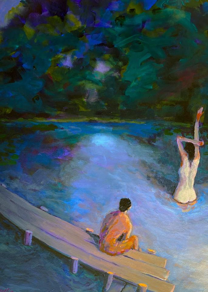 The Night Swim  Art   Charles Wallis