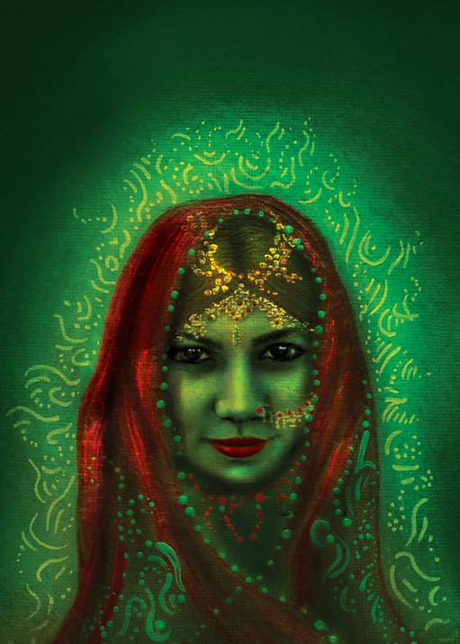 India Emerald  Art | Angelica Hoyos Studio