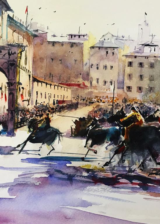 Palio Di Siena Art   Steven Dragan Fine Art