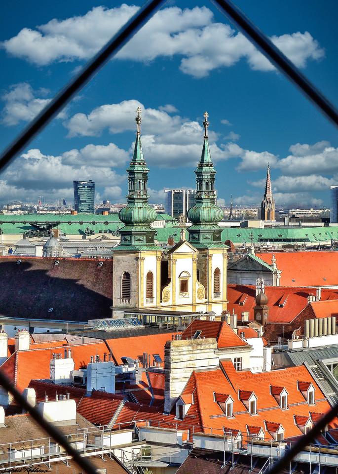 View Cityscape Parapet Vienna Austria Iconic photographic-prints jackie-robbins-studio