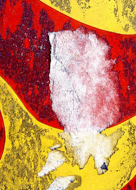 Vibrant Red Yellow Abstract NYC Nolita Print – Sherry Mills