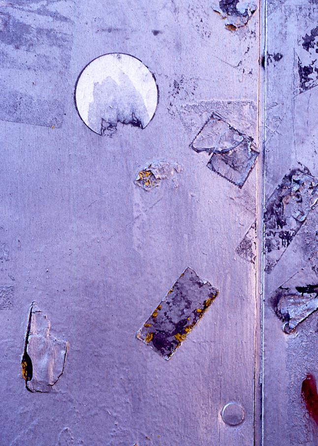 Purple Metallic Urban Abstract NYC Print – Sherry Mills