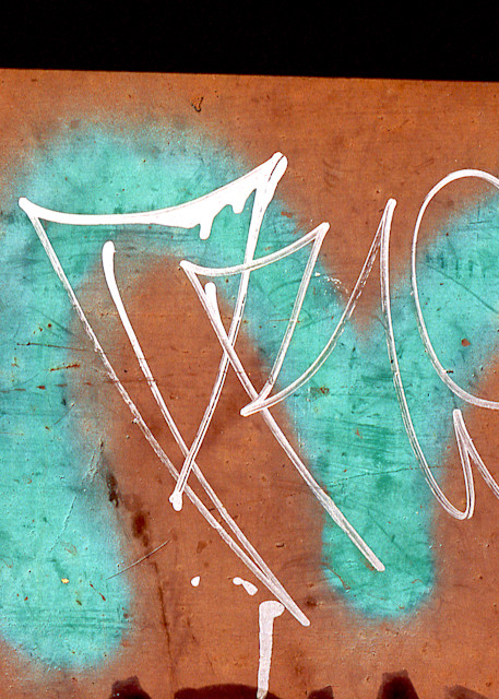 Teal Letter M Abstract NYC Graffiti Print – Sherry Mills