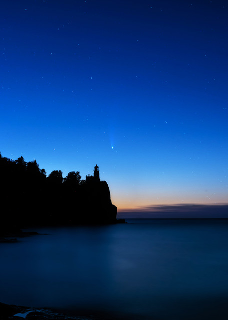 Split Rock And Neowise Photography Art | William Drew Photography