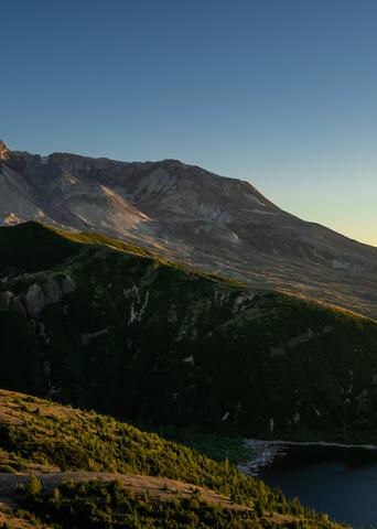 Summer Golden Hour, Mt St Helens, Washington, 2020