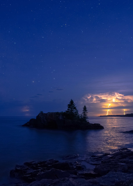 A Thunderstorm And The Milky Way At Hollow Rock Photography Art   William Drew Photography