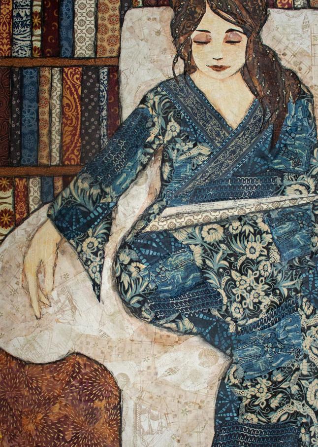 Reader Blue (2) Print Art | Sharon Tesser LLC