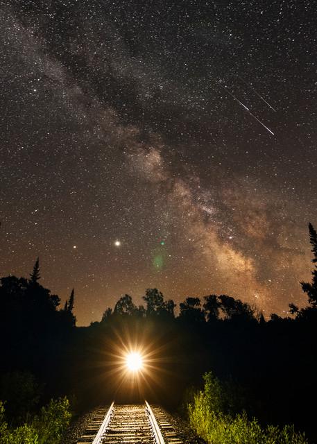 Milky Way Train 3 Shooting Stars Photography Art | Kurt Gardner Photogarphy Gallery