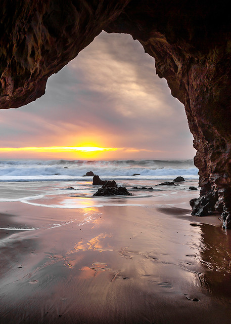 Hole In The Wall Beach At Sunset Art | Tony Pagliaro Gallery