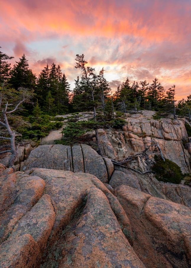 Sunset at Otter Cliff