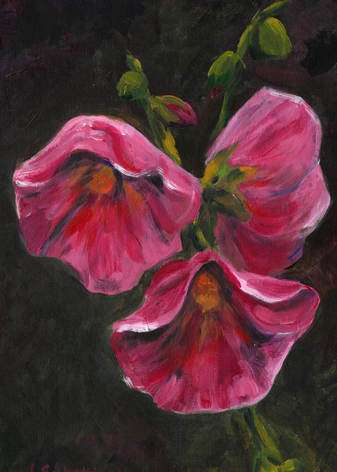 Holly Hock Art | Linda Sacketti