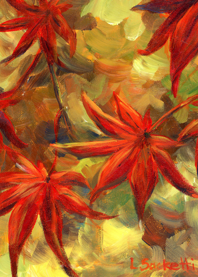 Japanese Maple Leaves Art | Linda Sacketti