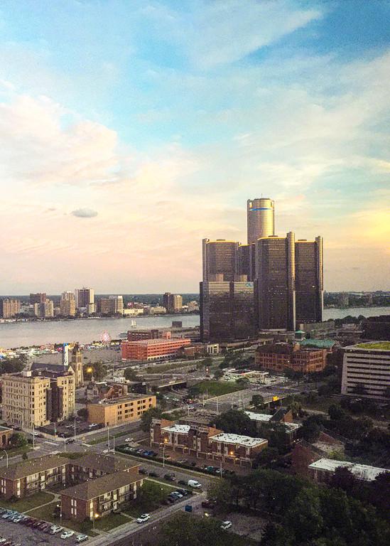 Pink Skies Art   Picture Detroit