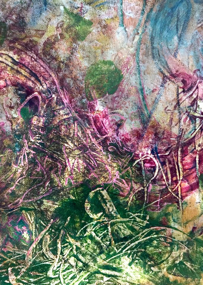 Pink And Green Art   Artist Rachel Goldsmith, LLC