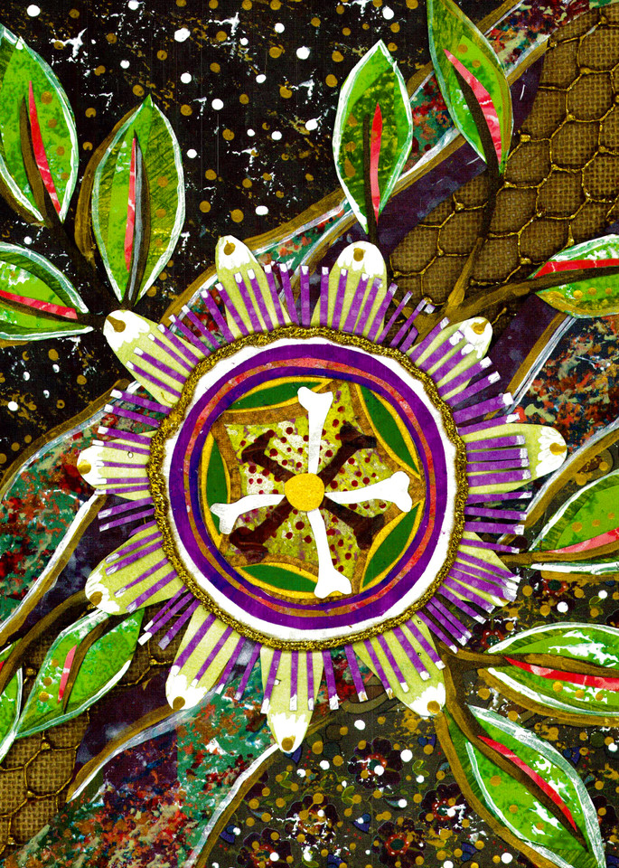 Collage of a passion flower