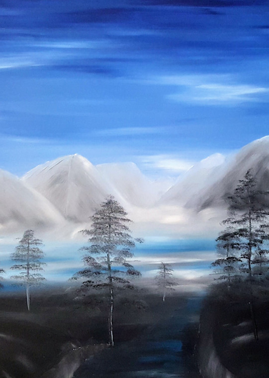 Mountains At Dawn Art   Artist Ron Turner