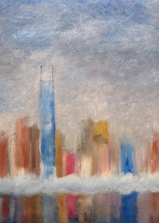 Chicago Skyline In Pixio Art | Artist Ron Turner