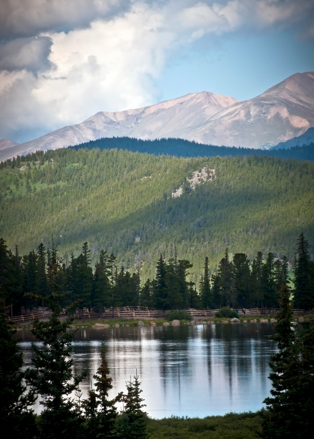 Clouds Over Echo Lake Photography Art | Elizabeth Stanton Photography