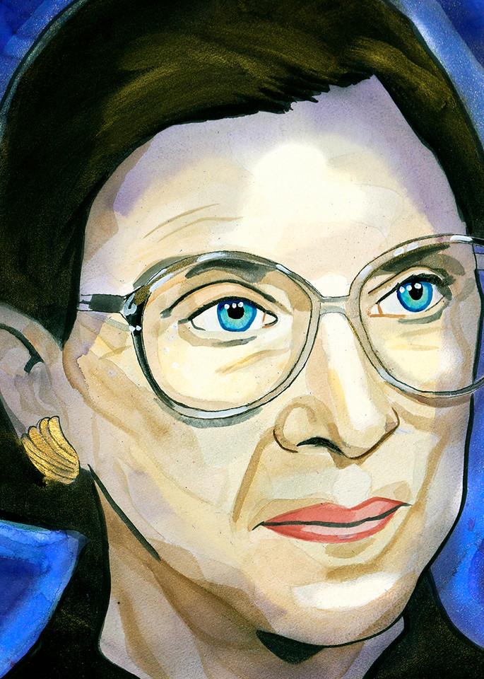 Ruth Ginsburg Coaster Art   William K. Stidham - heART Art
