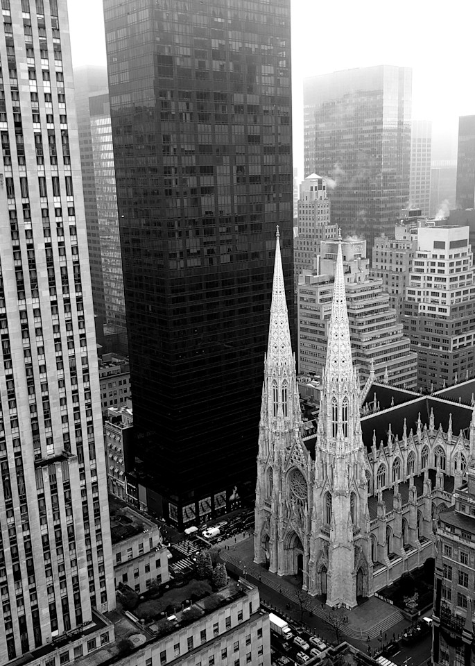 Old And New   St.Patrick's Cathedral In Manhattan Photography Art | Photoissimo - Fine Art Photography