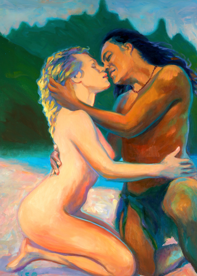 Isa Maria paintings, prints - portrait of lovers - world peace - Return to Innocence
