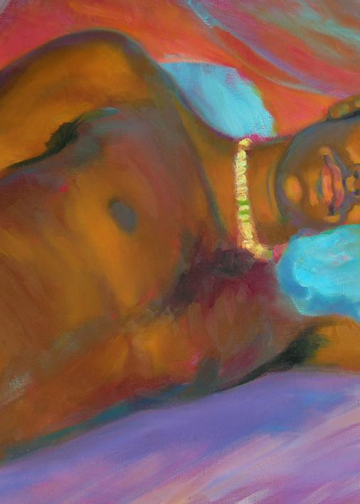 Isa Maria paintings, prints - art portraits- Morning Meditation