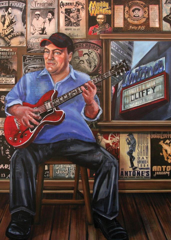Clifford Antone's Room Of The Blues Art   Channe Felton Fine Art