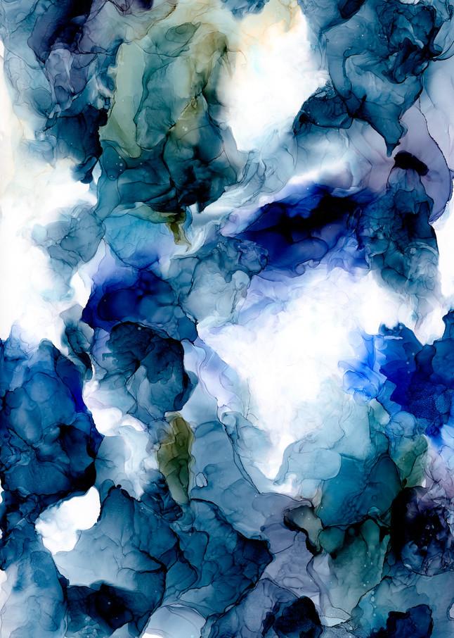Seascape Ink Art Print