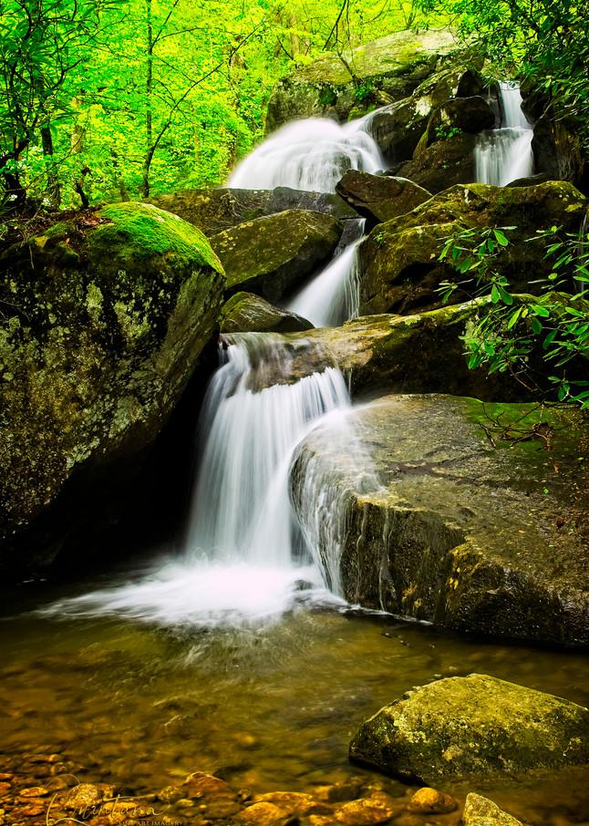 Jacob Fork River Cascades - A Fine Art Photograph by Marcos R. Quintana