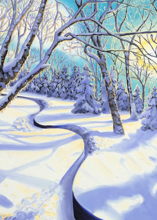'Happy Place' Vermont Ski Art for Sale