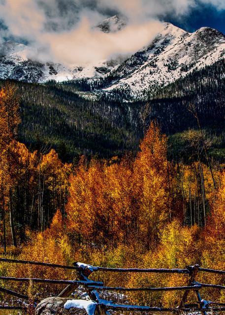 Dillion Colorado Fall Colors Aspen Leaves Snow Landscape Photography