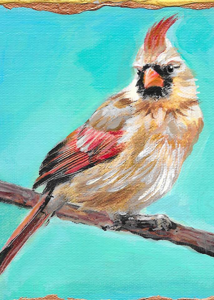 Female Cardinal Art   Channe Felton Fine Art