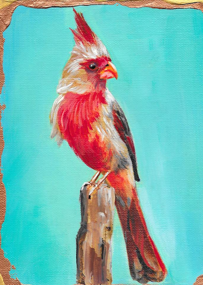 Pyrrhuloxia Art   Channe Felton Fine Art
