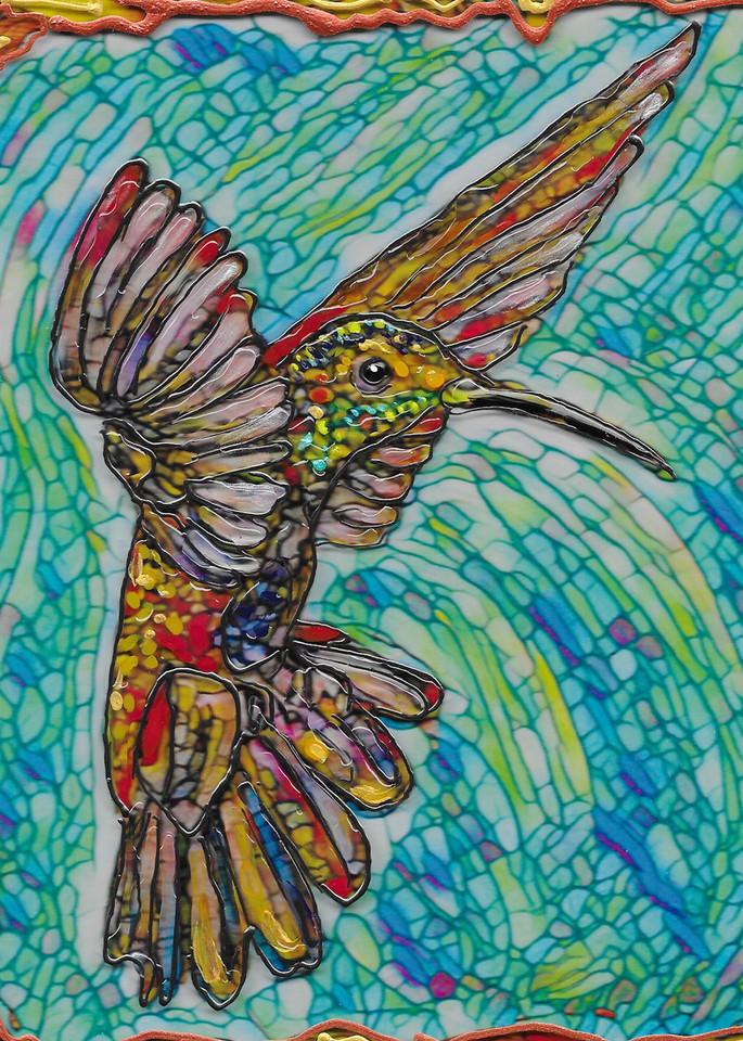 Flying Hummer 2  Art   Channe Felton Fine Art