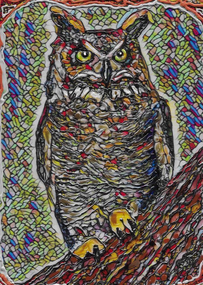 Great Horned Owl  Art   Channe Felton Fine Art