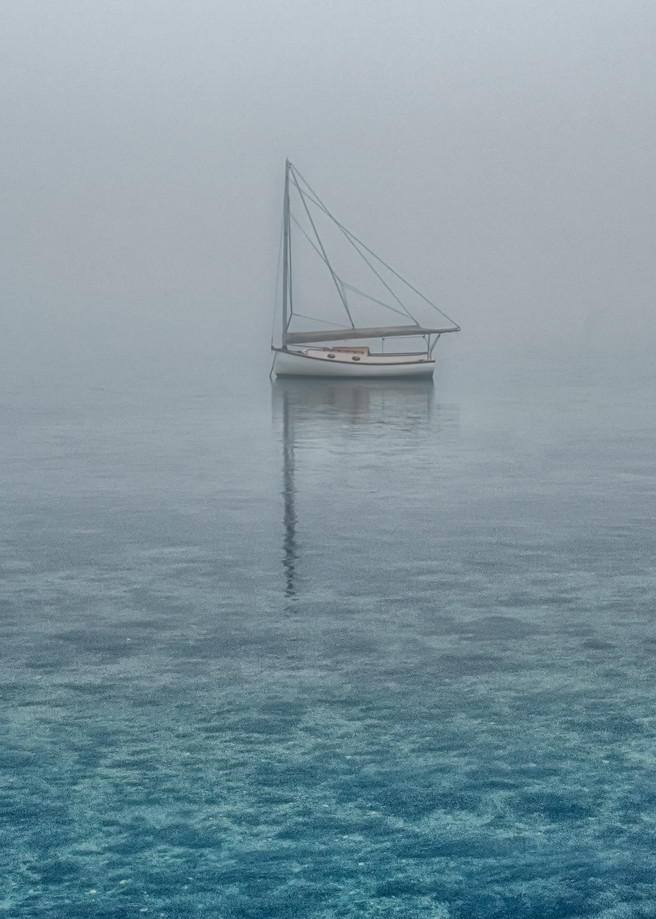 Sailing Dory Blue Water Art | Michael Blanchard Inspirational Photography - Crossroads Gallery
