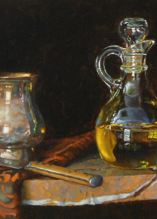 Silver, Knife, Oil, And Lemon Art | Jeff Hayes Fine Arts