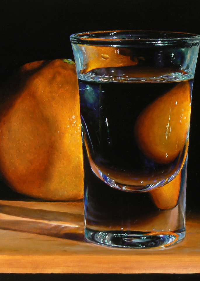 Tangerine And Shotglass Art | Jeff Hayes Fine Arts