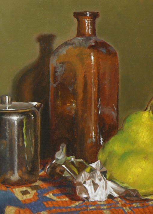 Creamer, Bottle, And Pear Art | Jeff Hayes Fine Arts