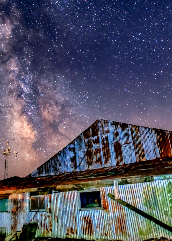 Katama Airfield Hangar Milky Way Art | Michael Blanchard Inspirational Photography - Crossroads Gallery