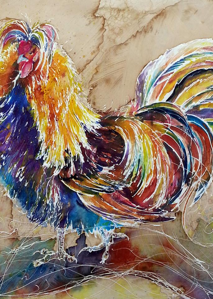 Polish Rooster Art Art | Christy! Studios