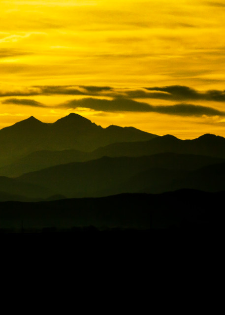 Photograph of Sunset of Longs Peak in Northern Colorado Fort Collins