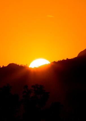 Horsetooth Rock Fort Collins Colorado Sunset Image
