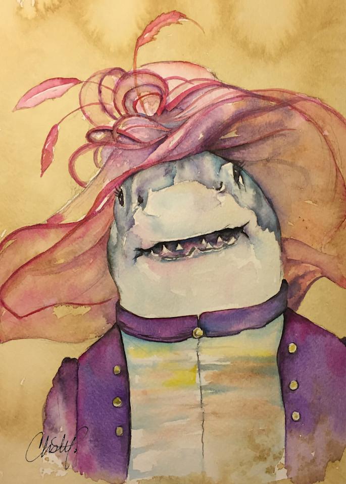 Steampunk Mrs Shark Derby Ready Art   Christy! Studios