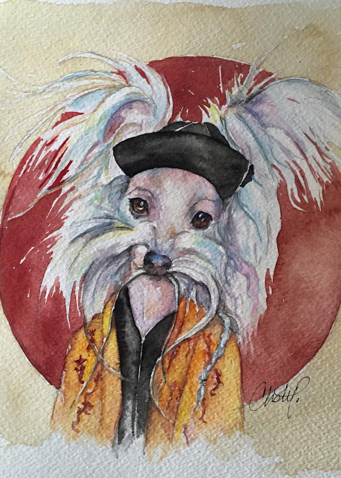 Tasso Chinese Crested Fu Man Chu Dog Art | Christy! Studios