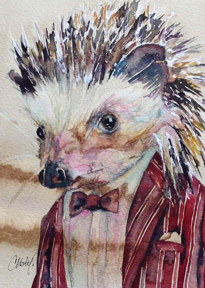 Hank Hedgehog Steampunk Critter Art | Christy! Studios
