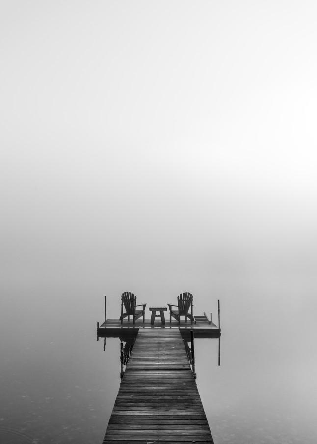 Adirondack B&W Dock Photography Art | Kurt Gardner Photogarphy Gallery
