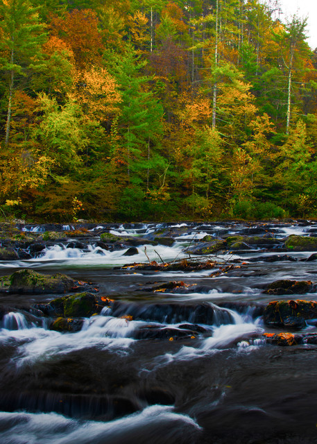 Autumn on the Tellico River - Tennessee fine-art photography prints