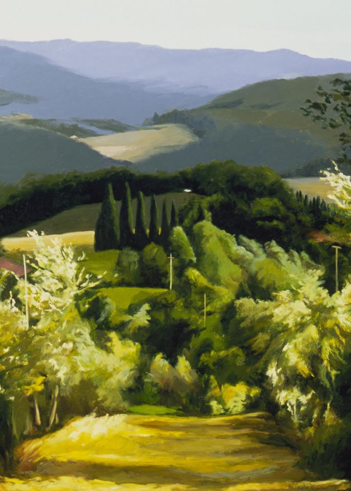 A Path Near The Villa 2002 001 Art | Helen Vaughn Fine Art