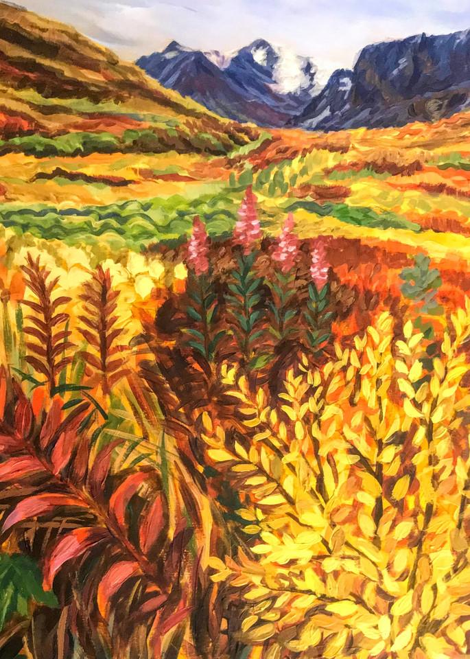 Autumn In Hatcher's Pass   Alaska Art Print Art | Amanda Faith Alaska Paintings / Estuary Arts, LLC